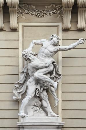 bout: Sculptural Composition - Hercules Wrestling Antaeus  Hofburg  Vienna Austria