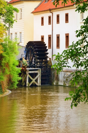 watermill: Old Watermill In The Centre Of Prague, Czech Republic Stock Photo