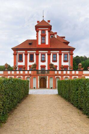 entranceway: Side View Of Troja Palace  Prague, Czech Republic