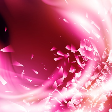 broken glass: Abstract Pink Glamorous Background With Broken Glass Illustration