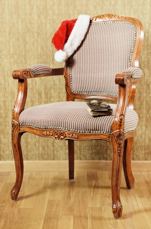 easy chair: Old Antiques Armchair With Santa