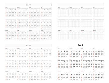 Illustration Of 2012 Standart Wall Calendar Size 11x17 Inch