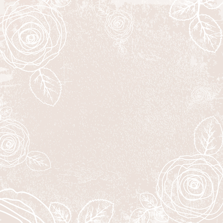 ivory: Abstract Vintage Rose Ivory Color Background