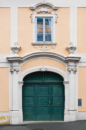 entranceway: Main Entrance To The Old House. Austria, Eisenstadt Stock Photo