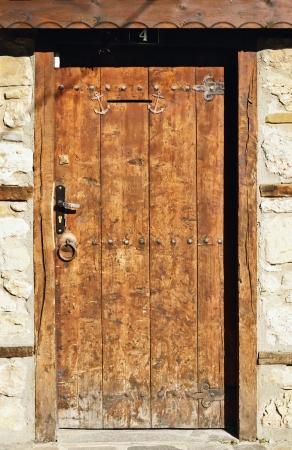 entranceway: Old Wooden Door In The Nessebar  Bulgaria