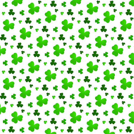 clover backdrop: Abstract Seamless Green Clover Background Illustration