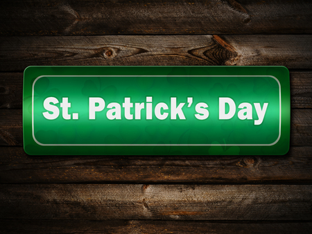 st  patrick day: Sign Of St. Patrick Day Street On The Wooden Wall