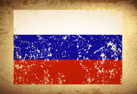 federation: Russian Federation Vintage Flag Grunge Background