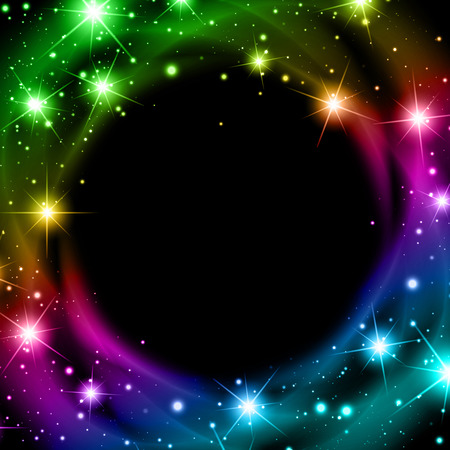 lucero: Abstract Multicolored Night Bright Star Background With Copyspace Vectores
