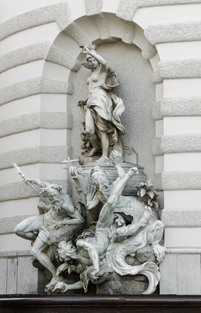 bout: Mastery Of The Sea. Sculptural Group. Hofburg Palace, Vienna, Austria