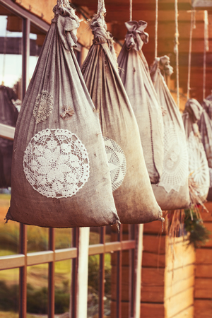 suspend: Hanging Sacks With Meal