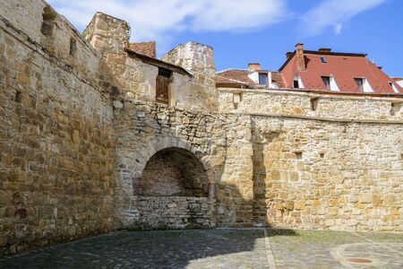 fortified wall: Fragment Of Fortified Wall In The Old City Of Cluj-Napoca, Romania