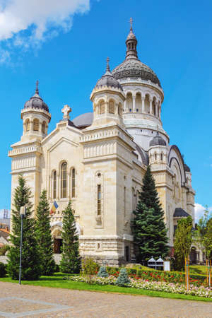 the orthodox church: Romanian Orthodox Church - The Dormition Of The Theotokos Cathedral in Cluj-Napoca, Romania