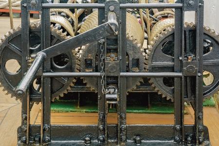 gear mechanism: Close-up Image Of Gear Mechanism Stock Photo