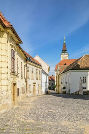 old city: Urban Street of an old city of Szekesfehervar Hungary