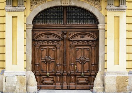 wood carving door: Old Wooden Gate