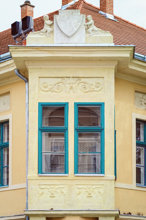 corner of house: Closed Windows of a Corner House