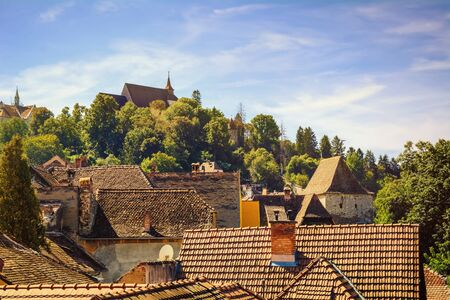 architectural exteriors: Roofs of Medieval City of Sigisoara, Romania
