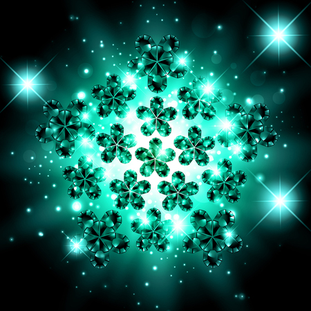 gemstone: Abstract Gemstone Bright Explosion Background With Stars