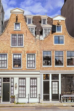 netherlands: Buildings under the Cloudy Sky Stock Photo