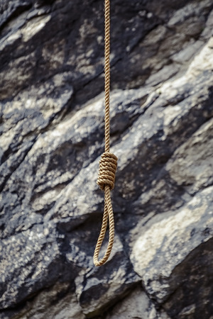 noose: Noose against the Rocky Background