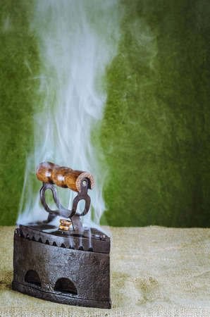 osnaburg: Steaming Hot Iron On The Canvas
