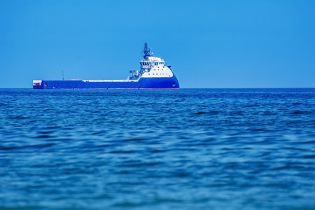 the black sea: Offshore Supply Ship in the Black Sea Stock Photo