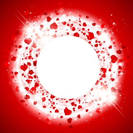 copyspace: Abstract  Bright St.Valentine Day Heart  Background, Copyspace Illustration
