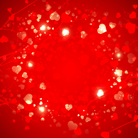 copyspace: Abstract  Red St.Valentine Day Heart  Background, Copyspace