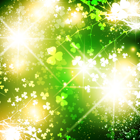 patrick day: Bright Saint Patrick Day Abstract Background With Stars Illustration