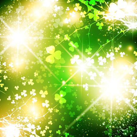 saint patrick: Bright Saint Patrick Day Abstract Background With Stars Illustration