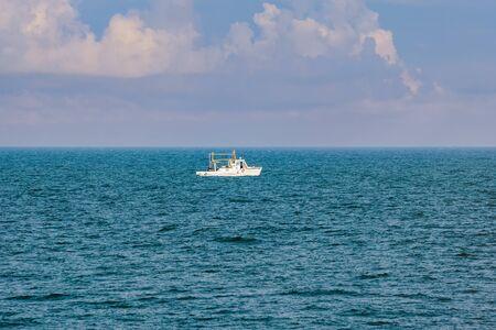 work boat: Work Boat in the Black Sea
