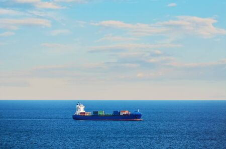 shipping container: Container Ship in the Black Sea