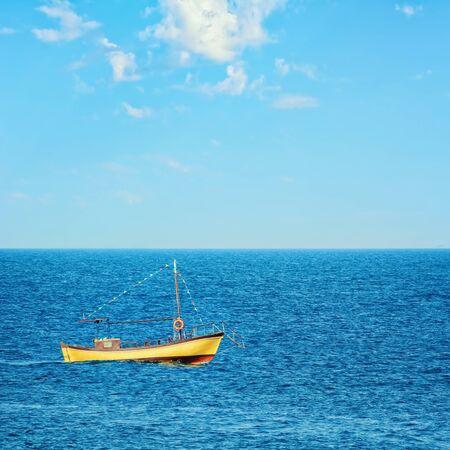 work boat: Motor Boat in the Black Sea