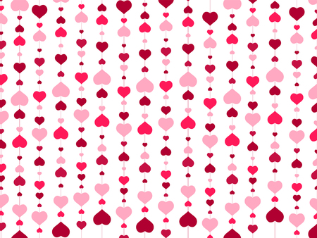 red hearts: St.Valentine day Abstract Heart Background