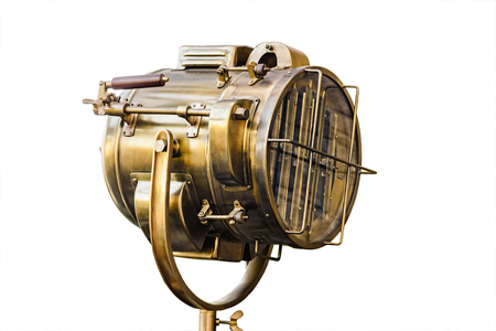 cobre: Cobre viejo reflector Foto de archivo