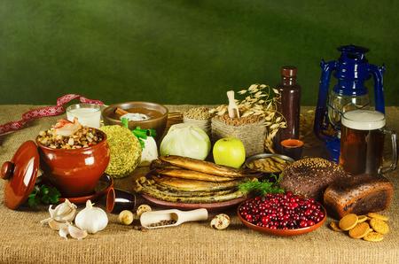 food still: Still Life of Different Kind of Food Stock Photo