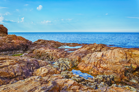 shore: Rocky Coast of the Black Sea Stock Photo