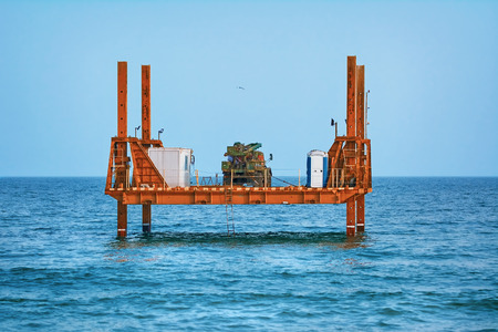 autotruck: Platform with Truck in the Black Sea