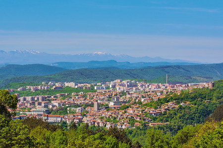 veliko: View over the city of Veliko Tarnovo, Bulgaria Stock Photo