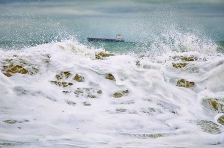 granola: Big Wave durante la tormenta en el Mar Negro