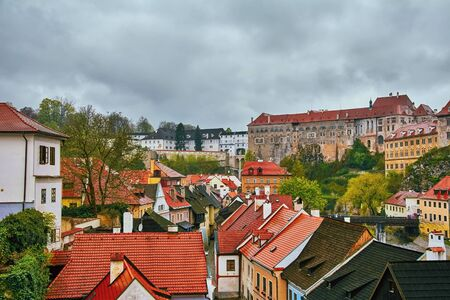 krumlov: View of the Cesky Krumlov, Czech Republic Stock Photo