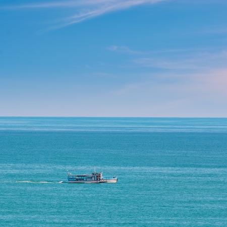 pleasure boat: Empty Pleasure Boat in the Black Sea