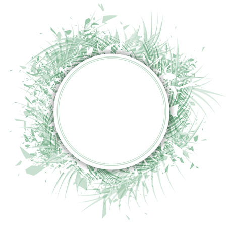 borders plants: Palm Leaf Abstract Design Frame With Copyspace Over White