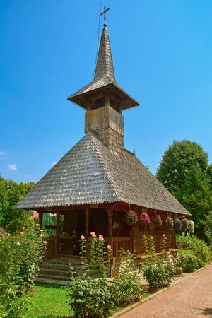 priory: Wooden Church in the Monastery of Giurgiu city, Romania