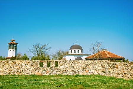 church steeple: An Abandoned Monastery under the Blue Sky