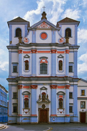 architectural exteriors: Old Building in Usti Nad Labem, Czech Republic Stock Photo