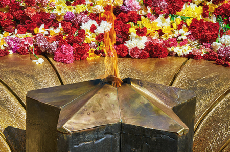 fascism: The Eternal Flame Memorializing Losses During the Fight Against Fascism Stock Photo
