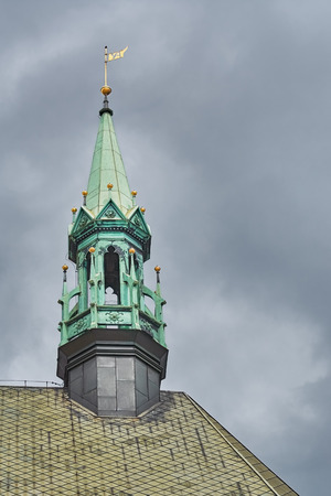 church bell: Church Bell Tower over the Cloudy Sky