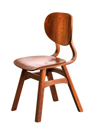 wooden chair: Wooden Chair over the White Background